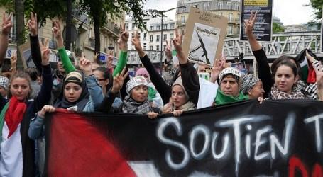 مظاهرة تضامنية في باريس احتجاجا للفلسطين