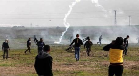 إصابة فلسطينيين اثنين في مواجهات مع الجيش الإسرائيلي على حدود غزة