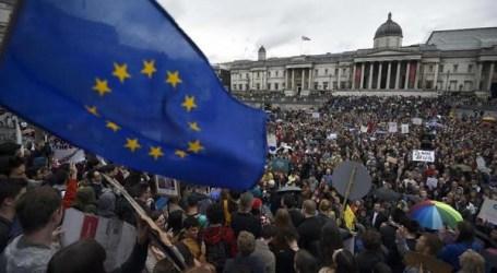 تظاهرات حاشدة لمعارضي خروج بريطانيا من الاتحاد الأوروبي
