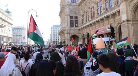 مظاهرة في فيينا احتجاجا على انتهاكات إسرائيل بحق المسجد الأقصى