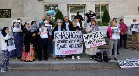 وقفة أمام سفارة السعودية بواشنطن احتجاجًا على اختفاء خاشقجي