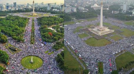 مظاهرة حاشدة لذكرى الحراك الثاني ديسمبير لاحاطة حاكم جاكرتا المسيحي