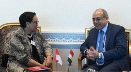 ريتنو مارسودي في اجتماع مع الممثل الدائم لمصر لدى الأمم المتحدة حول الوضع في غزة