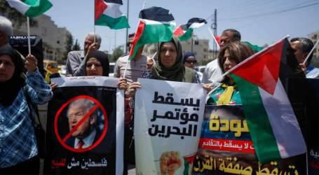 فلسطينيو الضفة ينظمون مسيرات رفضا لمؤتمر البحرين