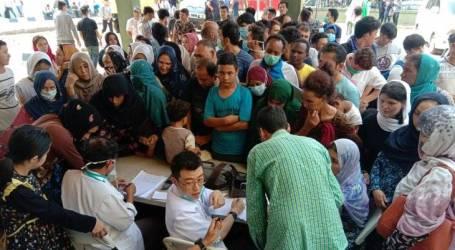 اعتصام اللاجئين في شارع كيبون سيريه أمام مبنى رافيندو وسط جاكرتا