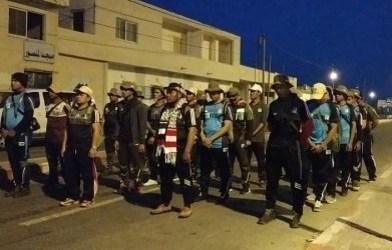 متطوعو مستشفى إندونيسيا بغزة في مسيرة طويلة غزوة فتح الأقصى
