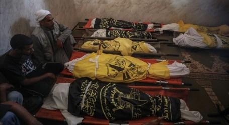 تشييع جثامين ثمانية شهداء من عائلة واحدة وسط قطاع غزة