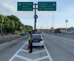 ازدحام مروري من وإلى طريق سيكوبو-باليمانان قبل حظر موديك
