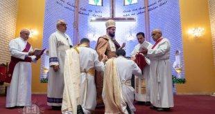 نيافة الاسقف مار اوراهام يوخانس، يرسم كاهنين للخدمة في النمسا واليونان