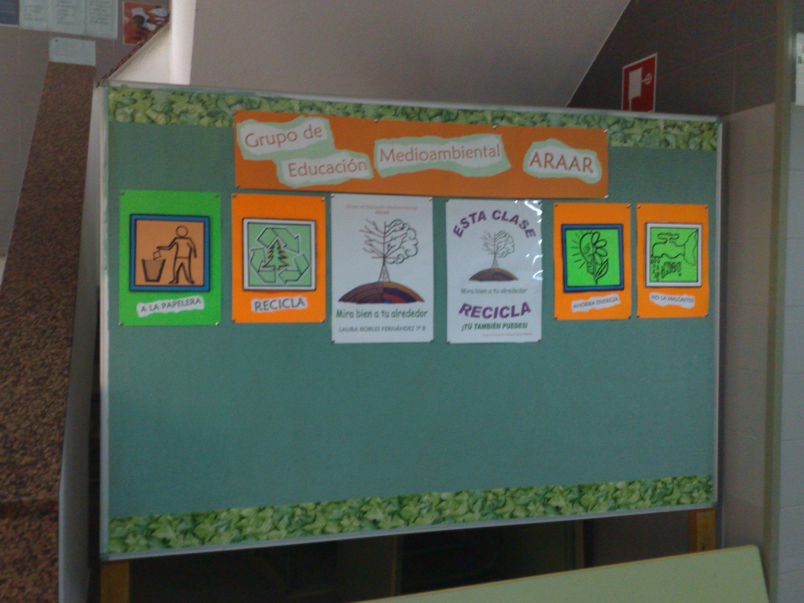 Espacio verde grupo de educaci n ambiental araar for El mural de anuncios