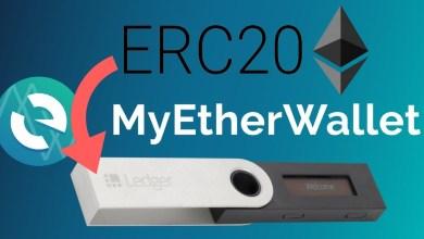 كيفية استقبال العملات الرقمية ERC20 في محفظة ليدجر نانو اس باستخدام MyEtherWallet