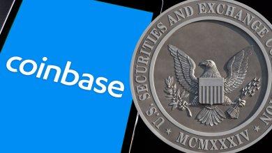 """هيئة SEC تهدد بمقاضاة """"كوين بيس"""" على منتج كريبتو عالي الفائدة"""