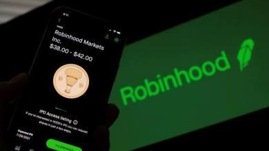 """انخفاض عائدات معاملات الكريبتو على منصة """"Robinhood"""" بنسبة 80٪ تقريبا في الربع الثالث"""