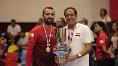 صورة هاني نبيل يستعد لنهائيات كأس العالم للدودج بول باستاد القاهرة
