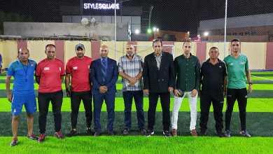 صورة إفتتاح ملعب الساحة الشاطئية للجيش للميني فوتبول ببورسعيد
