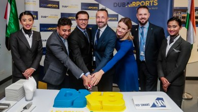 Photo of مطار دبي يستقبل الرحلة الافتتاحية لشركة جو اير من مدينة كانور الهندية