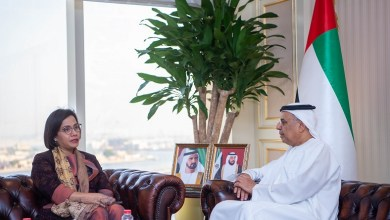Photo of معالي عبيد حميد الطاير يجتمع مع وزيرة المالية الأندونيسية