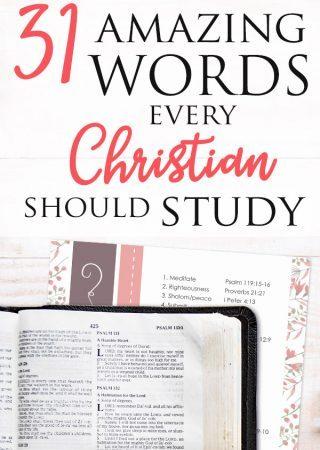 31 amazing bible word