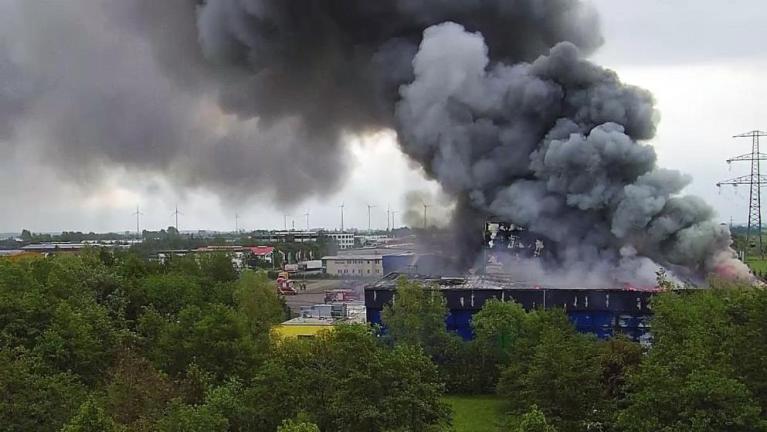 حريق بألمانيا