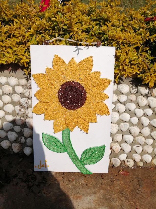 Sunflower String Art : sunflower, string, Sunflower, (String
