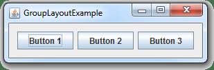 طريقة ترتيب محتوى ال JFrame بشكل متوازي أفقياً بواسطة الكلاس GroupLayout في جافا