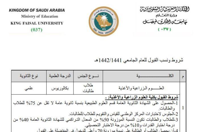 دليل القبول وتخصصات جامعة الملك فيصل pdf