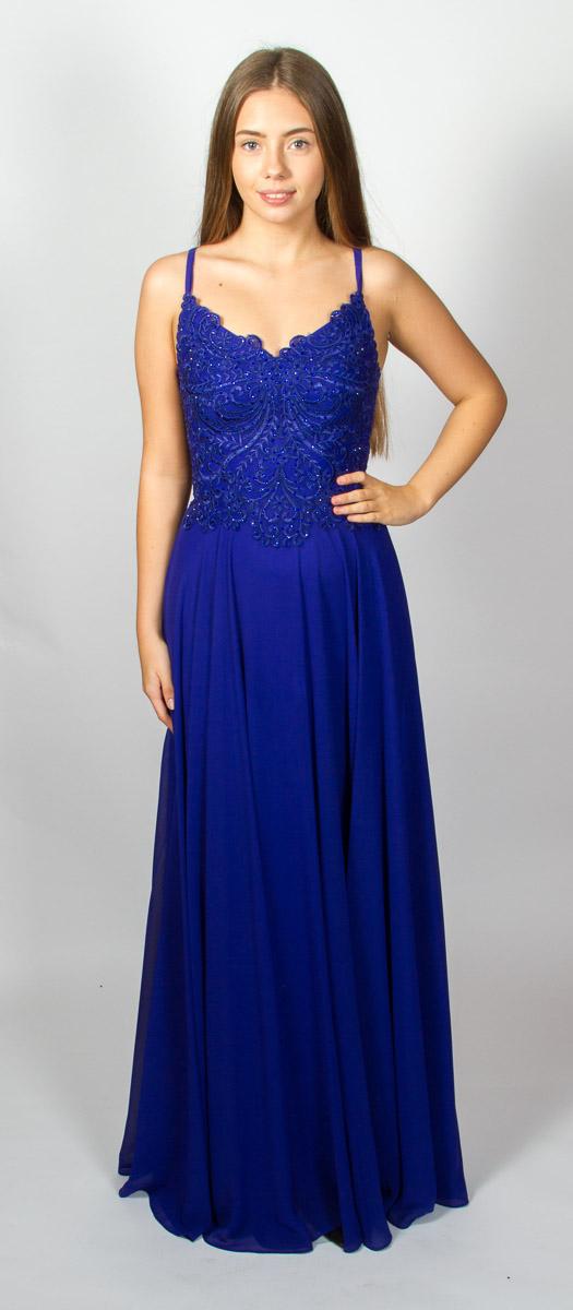Simone (Velvet Blue) Front