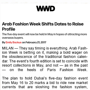 Arab Fashion Week - WWD