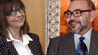 صورة العاهل المغربي يرسل تهنئة الى رئيسة اليونان الجديدة