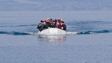 صورة إصابة مهاجرين قدموا من تركيا بكورونا في جزيرة ليسفوس