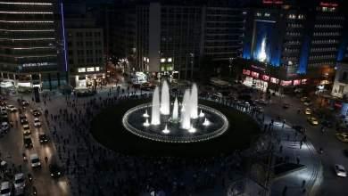 صورة افتتاح نافورة اومونيا بعد شهور من الإصلاحات وسط حشد جماهيري