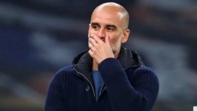 """صورة غوارديولا يتوقع مواجهة """"افضل نسخة"""" من مانشستر يونايتد الجريح"""