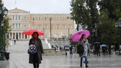 صورة انخفاض في درجات الحرارة وطقس بارد في الاجواء اليونانية