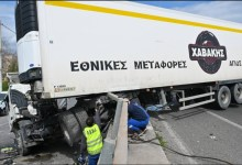 صورة حادث مروري خطير مع اصابة ثلاثة في كيفيسوس وانقطاع التيار الكهربائي عن بيرايوس