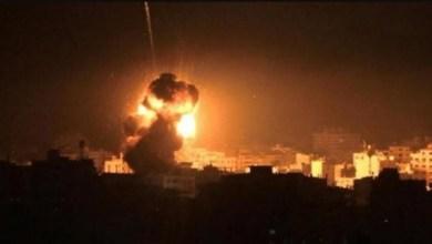صورة قصف مواقع للمقاومة وسط قطاع غزة