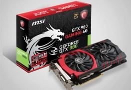 بطاقة MSI GTX 980 gaming 4G