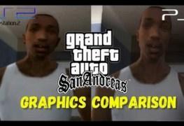 بالفيديو مقارنة لرسوميات لعبة GTA San Andreas على PS2 & PS4