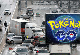 أراد إمساك بيكاتشو من لعبة Pokémon Go فتسبب بحادثة ضخمة بسيارته