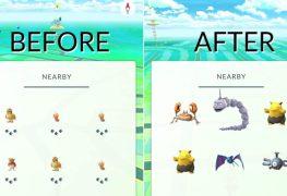 آخر تحديثات Pokémon GO يحذف خاصية تتبع البوكيمونات القريبة منك