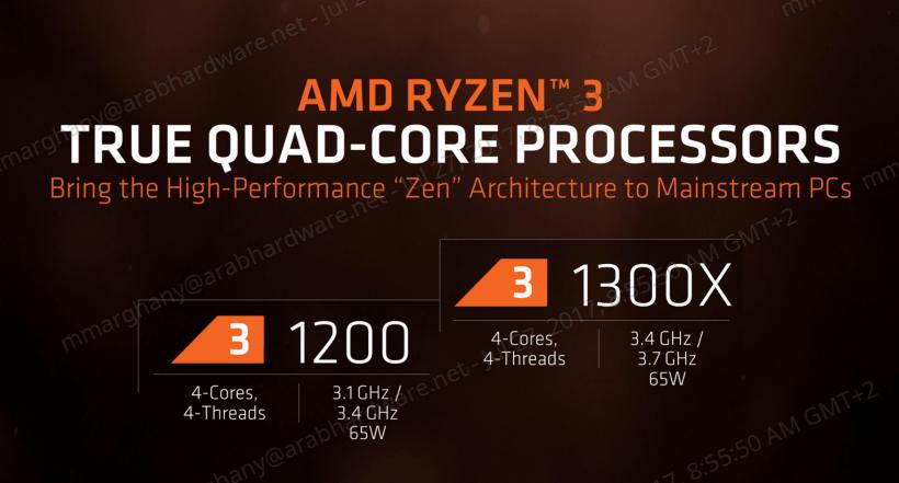 AMD RYZEN 3 R3 1300X R3 1200