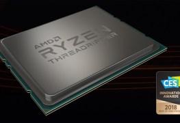 معالج AMD Threadripper 1950X يحصل على جائزة أفضل ابتكار لمعرض CES 2018