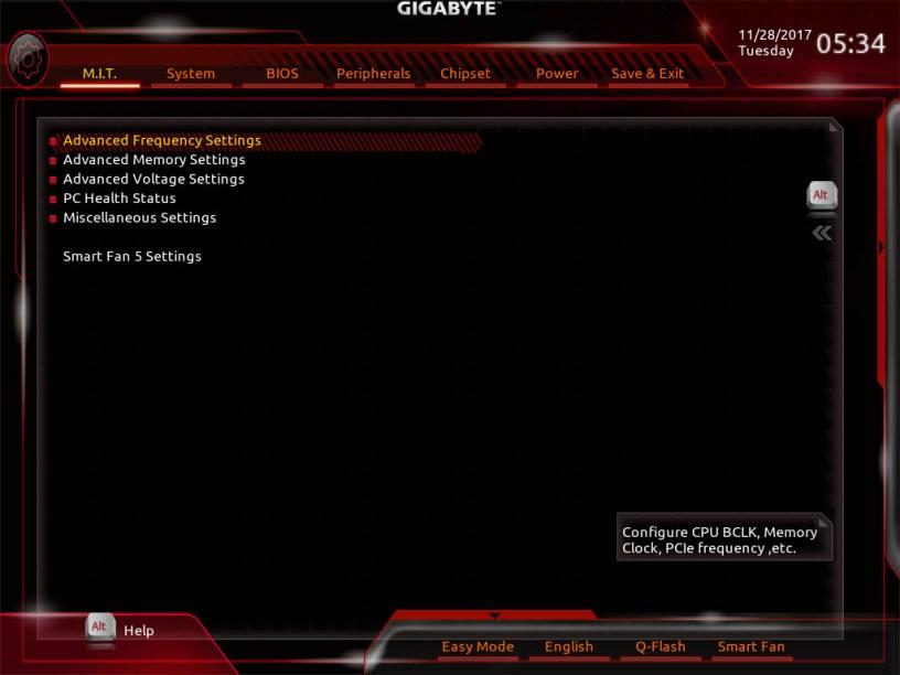 GIGABYTE Z370 AORUS Gaming 7 Bios (2)