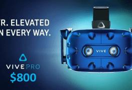 رسمياً نظارة الواقع الافتراضي HTC Vive Pro ستطلق في أبريل بسعر 800 دولار