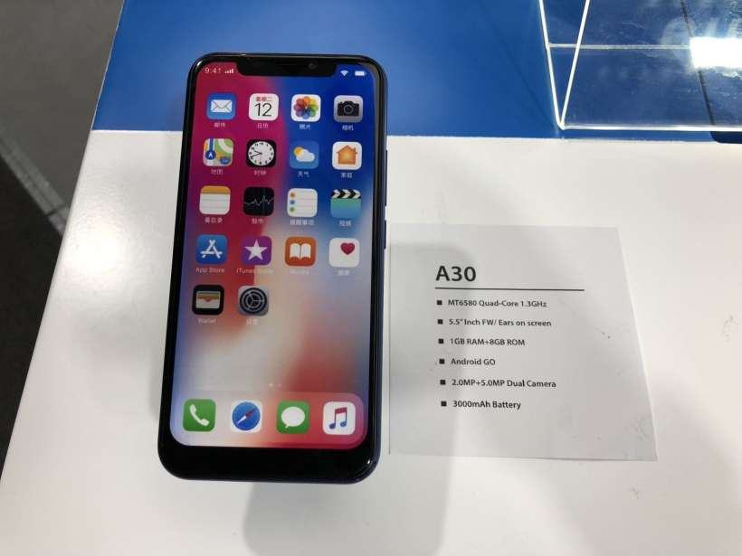 a30 Phone IPhone x look alike
