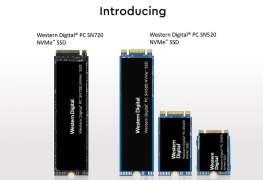 عودة جديدة من Western Digital مع أقراص NVMe SSD SN720 و SN520