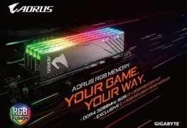 معرض Computex18: جيجابايت تفاجئنا وتدخل عالم ذواكر DDR4 بنكهة AORUS RGB