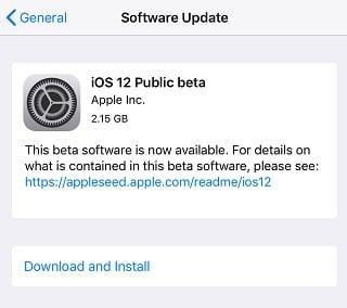 الإصدار التجريبي العام من iOS 12 ، نظام تشغيل iOS 12 ، النسخة التجريبية العامة من iOS 12