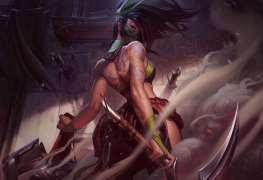 league of legends Akali Splash art