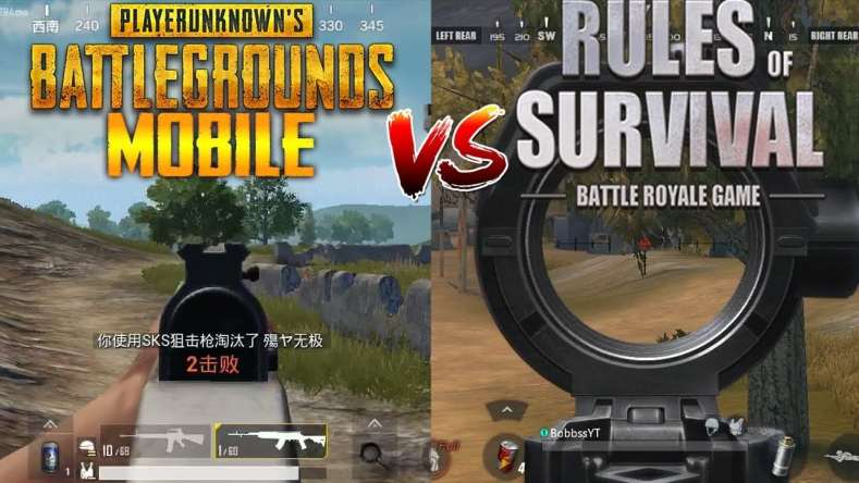 differnet between PUBG nad Rules of survival