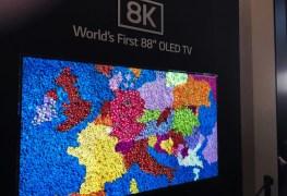 استعراض شاشة تلفاز LG 8K OLED TV بحجم 88 بوصة في معرض IFA 2018